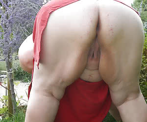 Vaginas of fat nudist grannies in all its glory