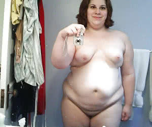 Shy inexperienced fatties on 1st time nude photos