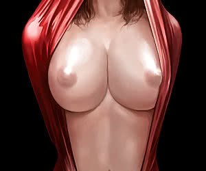 Big tittied and round assed drawn babes in sexy latex clothes show their delights in latex anime.