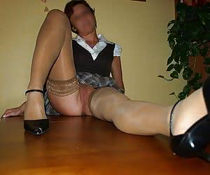 Each of my ex GFs like my horny luscious wife prefers wearing nylon stockings while fucking.