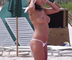 Homemade and voyeur photos of ordinary chicks in thongs