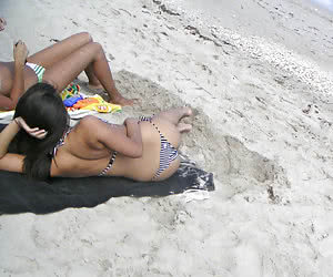 Ordinary girlfriends caught in their sexiest bikini and thongs