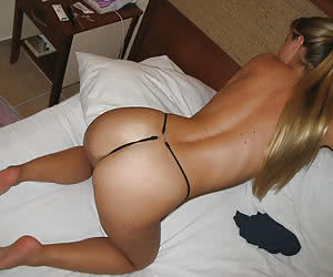 Various amateur cam shots of girls in their sexiest thongs