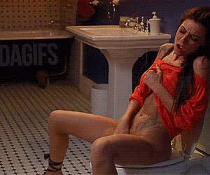 Masturbation animated GIF