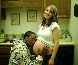 Pregnant Interracial Captions