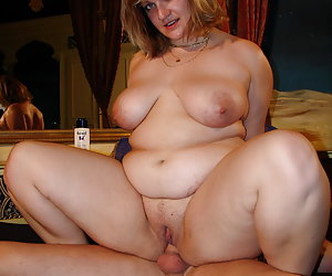 BBW wife flashing her heavy tits series