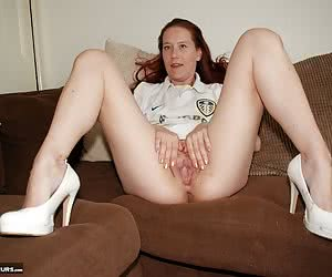 Angela is back with her loooong lovely legs and this time she is spreading them wide open in a lily white Leeds shirt, b