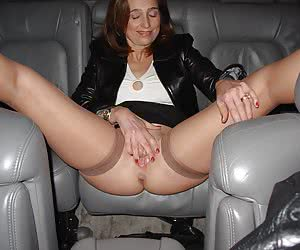 Hot amateur sluts can't resist temptation in a car