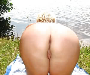 Chubby nature nudist asses and assholes