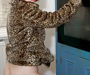 Hi Guys How do you like the Look of Sexy Kim Sutton in her Leopard Print Coat   She is one Hot Party Girl, Come into the