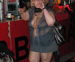 Absolutely crazy chubby older ladies having night party
