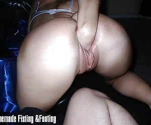 Horny wife enjoys thick objects in her twat