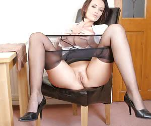Secretary in Nylons