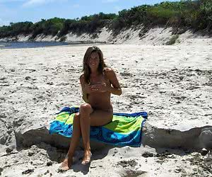 Miscellaneous vacation shots taken on a clothing-optional beach