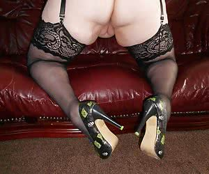I am wearing some fab cfm shoes in these pics - and ready for you to take me from behind.