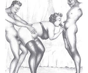 Awesome old fashioned threesome is in vintage sex comics.