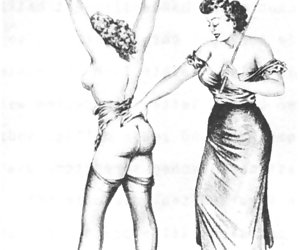 BDSM seems more popular nowadays but not if you'll look on this retro porn drawings.