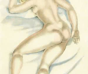 Beautiful and skilled vintage females do hot things in this retro porn drawing.