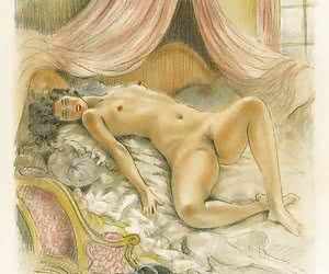 Beautiful and tempting vintage porn drawing worth to be a porn collection's salt.