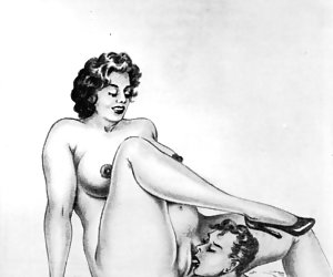 Bizarre vintage porn cartoons are getting too hot sometimes.