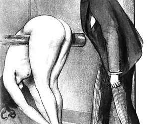 Busty old fashioned porn models in vintage erotic cartoons.
