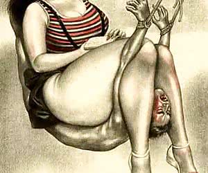 Fat asses and naughty mouths wait for you in vintage porn cartoon.