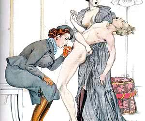 Punishing a woman was very sexy and lusty in this retro porn.