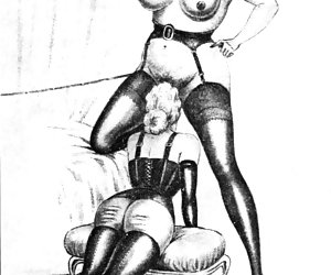 Tempting asses of beautiful women always attracted vintage cartoon porn authors attention.