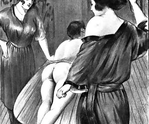 Vicious ancient tortures are shown in the hot vintage porn toons.