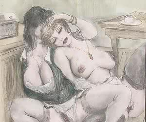 Wonderful old school girls are playing in these vintage sex cartoons.
