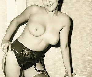 Corking hot girls enjoy teasing you during showoff on the most wanted vintage lingerie pictures