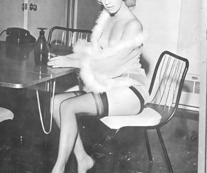 Corking hot retro lingerie pictures featuring experienced seductresses show their boobs and legs