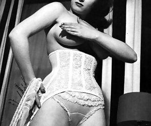 Excited gals show their vintage lingerie and very hot bodies without any doubts and hesitations