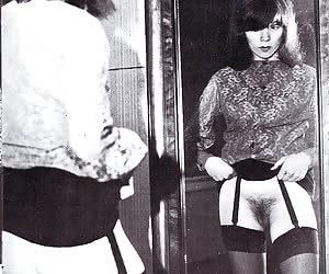 It seems like these retro lingerie chicks want to pose in various places before the camera again