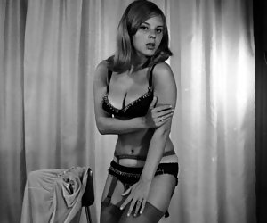 Neat ladies put the feelers on their bodies while posing and showing their sexy vintage lingerie