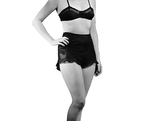 Slim gals become short of breath while displaying their vintage lingerie and gorgeous bodies