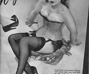 Very skillful temptresses enjoy posing in retro lingerie and showing their sensitive legs on camera