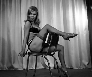 Without any doubts and hesitations attractive chicklettes start posing in their vintage lingerie for you
