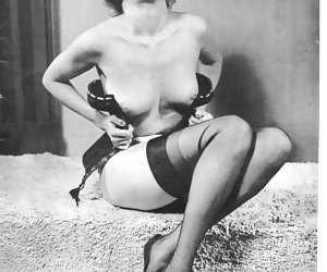 Without any hesitations innocent-looking chicks begin posing in vintage lingerie and show tits